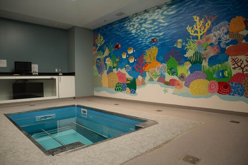 Our 98 degree therapeutic pool offers many advantages and benefits to individuals recovering from all phases of injury or illness.