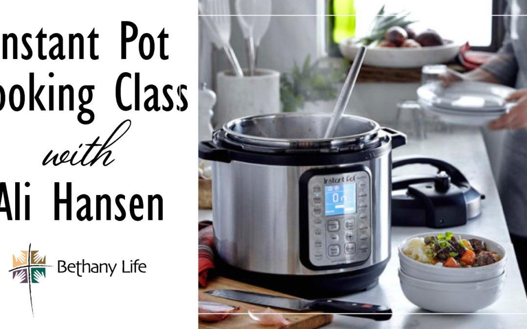 Instant Pot Class – January 14