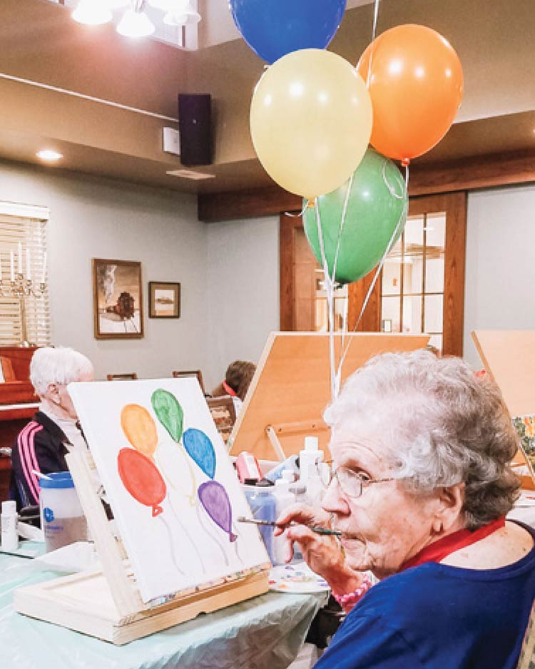 Respite Care - painting class