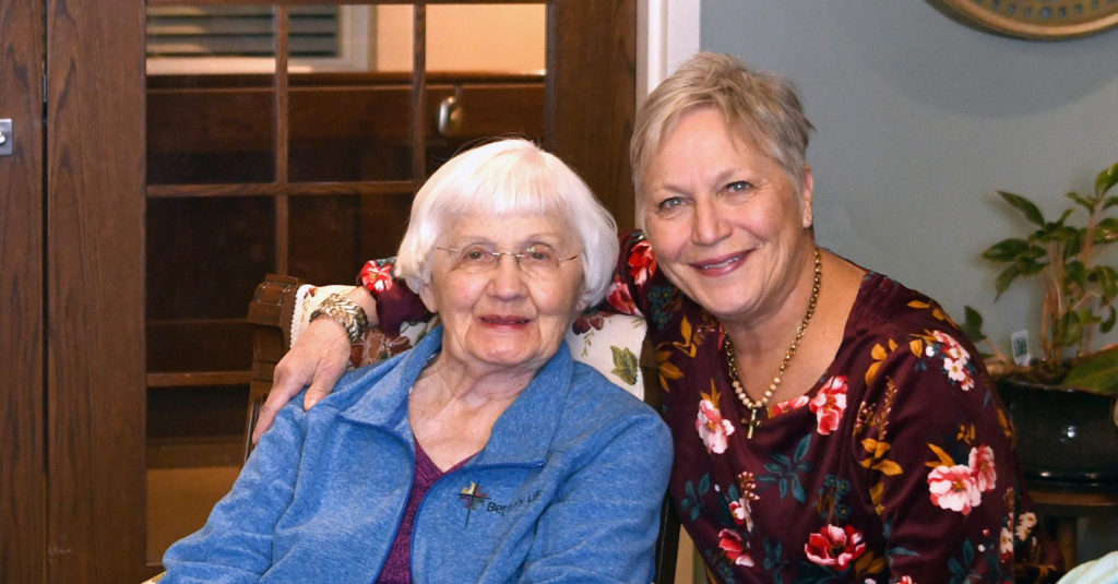 Bethany Life Resident With Family Member